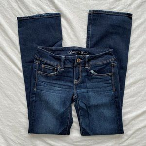 American Eagle Womens Slim Boot Jeans Blue Size 4
